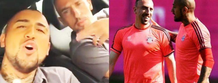 LA INFLUENCIA DE ARTURO VIDAL: Franck Ribéry y sus dotes como reggaetonero