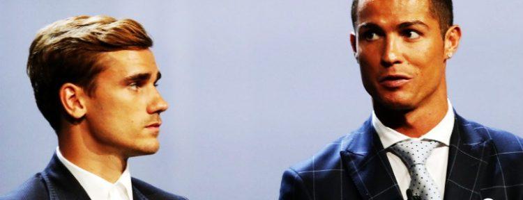 """Griezmann: """"Es normal que Cristiano haya ganado el premio UEFA al Mejor Jugador en Europa"""""""