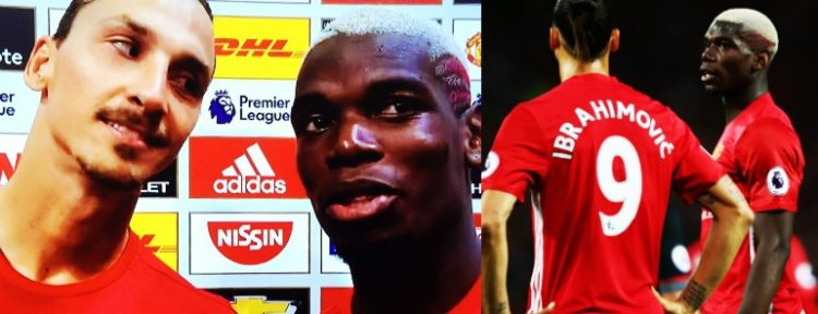 UNOS CRACKS: La broma de Zlatan Ibrahimovic a Paul Pogba tras el triunfo ante Southampton