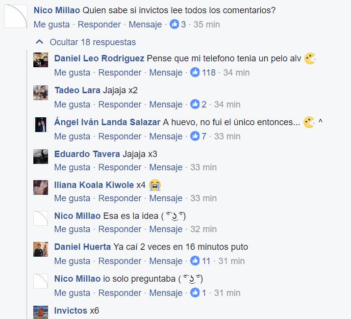 Facebook: Invictos